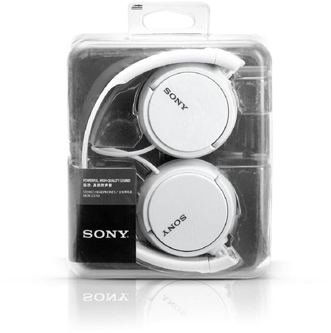 6b89d537b20 Sony MDR-ZX110A On-Ear Stereo Headphones (White) – Shadow Securitronics