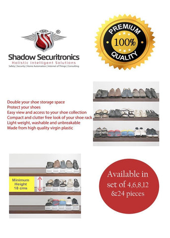 Shadow Securitronics Black Shoe Organizer