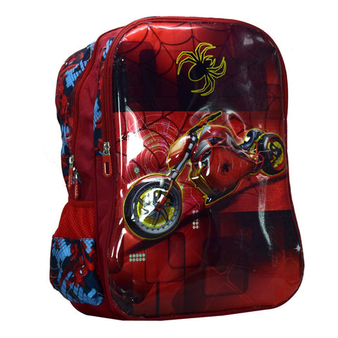 Spider Byke School Bag for Boys (Multi)