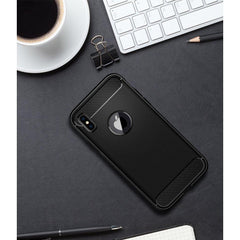 Rugged Armor Shock Proof TPU Back Case For IPhone X () Mobile Phone Matte Black