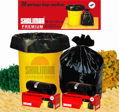 Premium Garbage Bags (Medium) Size 48 cm x 56 cm 6 Rolls (180 Bags) (Trash Bag/ Dustbin Bag)
