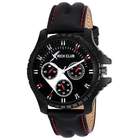 Combo Of Three Metallic And Leather Super Quality Watch - For Men