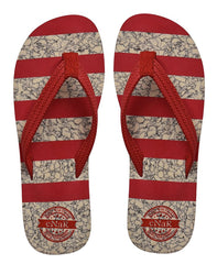 Women's Red Color Thong-Style Slippers/Flip Flops