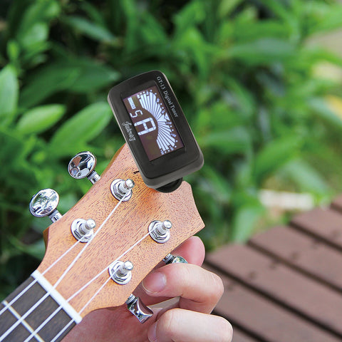 GT-13 Digital LCD Guitar Bass Violin Ukulele Clip On Automatic Chromatic Tuner