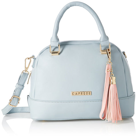 Caprese Shally Women's Satchel (Grey and Pink)
