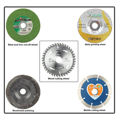 Combo Offer of 4 Inches or 110 mm Wheel-Grinding Angle Grinder, Set of 5