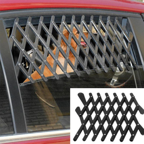24*11*1cm  Pet Dog Travel Car Window Grill Vent Ventilator Guard Mesh Security Lattice Telescopic fence
