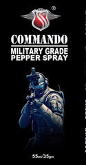 Commando Super Strong Military Strength OC Pepper Spray, Self Defence for Women