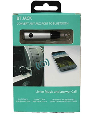 Shadow Securitronics Bluetooth Receiver with 3.5 mm Jack, In-Built Mic,Battery Aux Adapter for Car