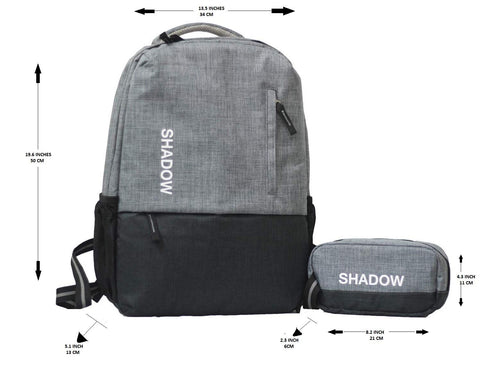 Shadow Securitronics Men's and Women's Nylon 30 L 15.6 Inch Anti Theft Ultralight Backpack