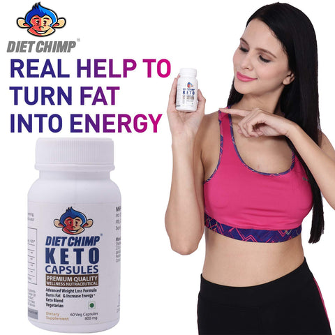DIET CHIMP Keto Advanced Weight Loss Capsules Supplement Natural Advanced Fat Burner