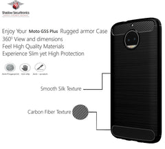 Shadow Securitronics Back Cover Rugged Case TPU for Moto G5s Plus (Lunar Black)