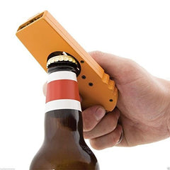 Shadow Securitronics Beer Opening Cap Launcher Bottle Opener Shooter by Spinning Hat Fire Cap (Orange)