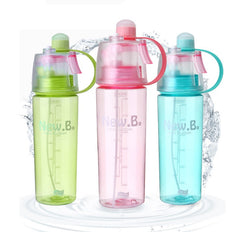 3 Colors Hot Sale Spray Sport Water Bottle Portable Plastic Bike