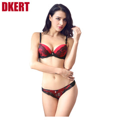 DKERT French brand ABC cup sexy push up bra set women's fashion l