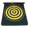 Image of Rowsfire 12 inches Magnetic Roll-up Dart Board Double Sided Hanging Dart Game Six Darts Set with Carry Box