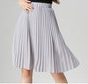 Image of ANASUNMOON Women Chiffon Pleated Skirt Vintage High Waist Tutu Sk
