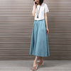 Image of Yichaoyiliang 2017 Summer Vintage Cotton and Linen Midi Skirts Wo