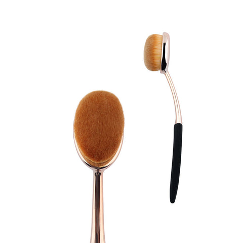 1 pcs Rose Gold Oval Makeup Brushes Synthetic Hair Professional F