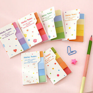 Sweet Candy Color Rainbow Double-Face Self-Adhesive Memo Pad Note