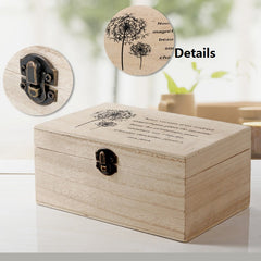 retro wooden box locked organizer jewelry case cosmetics storage