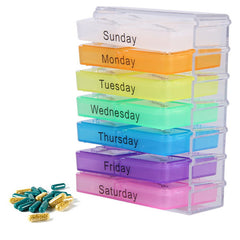 Colorful Design Medicine Weekly Storage Pill 7 Day Tablet Sorter