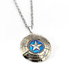 Image of Captain America Necklace The Avengers Rotatable Pendant Fashion Stainless Steel Chain Necklaces Gift Jewelry Accessories