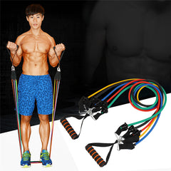 Men's Portable Chest Expander Puller Exercise CrossFit Muscle Training Rope Fitness Resistance Cable Rope Tube
