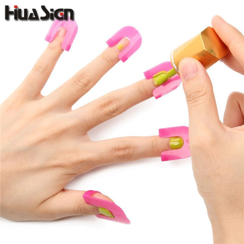 26PCS/Set Manicure Finger Nail Polish Shield Protector Tool Nail Art Stickers Tips Cover Case