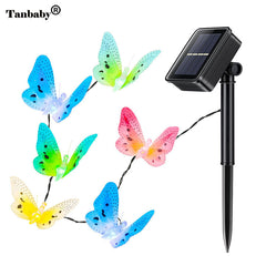 Tanbaby Solar Power LED String Light 12 LED Colorful Fiber Optic