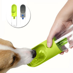 400ml Portable Pet Dog Water Bottle Filter Travel Cups Drinking Bowls Dog Cat Health Feeding Plastic Water Feeders