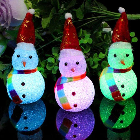 Merry Christmas Home Decoration Gift Children Kid Toy Glowing Sno