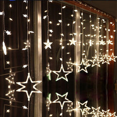 LAIMAIK AC110V or 220V Holiday Lighting LED Fairy Star Curtain St