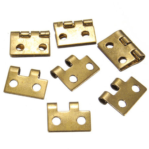 10Pcs 1/2 Mini Cabinet Drawer Butt Hinge Copper Gold Small Furnit