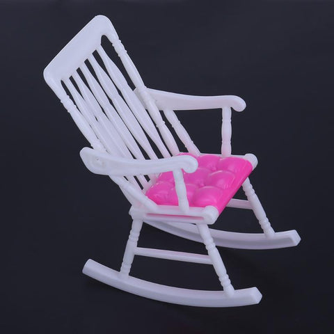 1pcs Mini Doll Rocking Chair Accessories for Barbie Doll House Ro