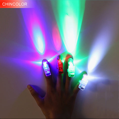 10PCS Holiday lights Funny Glowing Finger Laser Lights Battery Op