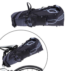 Image of 10L Bike Bag Bicycle Saddle Tail Seat Waterproof Storage Bags Cycling Rear Pack Painners Accessories 63*28*14cm Freeship