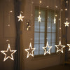 Image of Led Christmas Lights AC 220v LED Star Curtain Light Holiday light