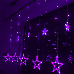 Led Christmas Lights AC 220v LED Star Curtain Light Holiday light