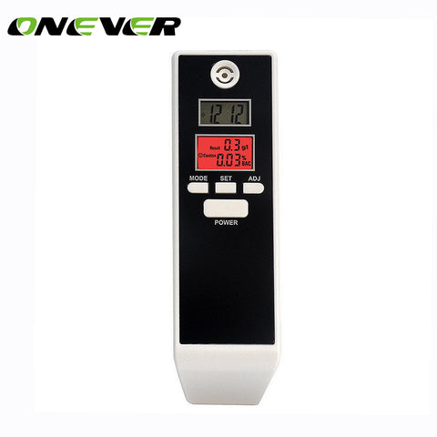 Onever Backlit Display Digital LCD Alert Breath Alcohol Tester Pr