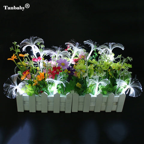 Tanbaby 2AA Battery Powered 2.5M 10 LED fiber led Fairy string li