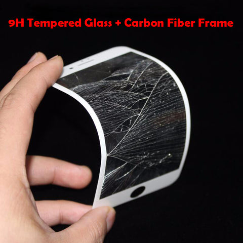 9H 3D Curved Carbon Fiber Soft Edge Tempered Glass For iPhone 6 6S 7 8 Plus Phone Screen Protector Film For iPhone 7 6 X Glass