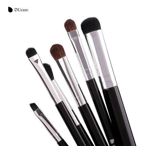 Makeup Brushes 6 PCS Eyeshadow Brush Blending Eyebrow Make Up Brushes Pony Hair Synthetic Bristles Beauty Cosmetics Kits