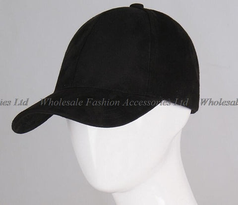 NEW Men Blank 6 Panel Suede Baseball Cap Classic Women Plain Base