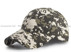 6pcs Fashion Digital Camo Cotton Baseball Caps for Men Spring Aut