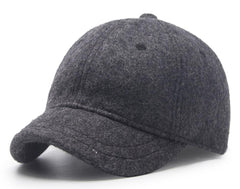 6pcs Men Winter Blank Wool Blending Short Peak Baseball Hats Fall