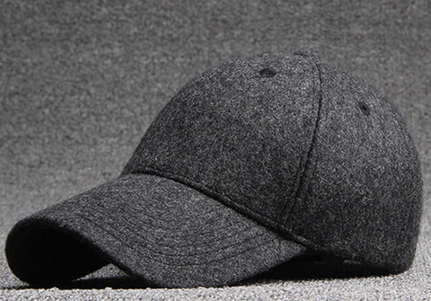 Wholesale Quality Men Grey Wool Felt Baseball Hats Women Plain Bl