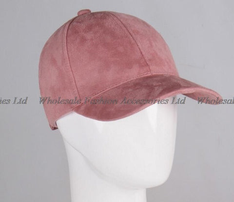 30pcs/Lot Men Plain 6 Panel Suede Baseball Caps Fashion Women Bla