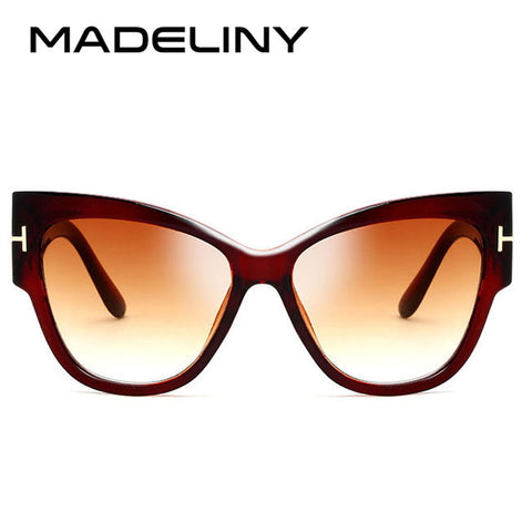 MADELINY New Fashion Brand Designer Tom Cat Eye Sunglasses Women