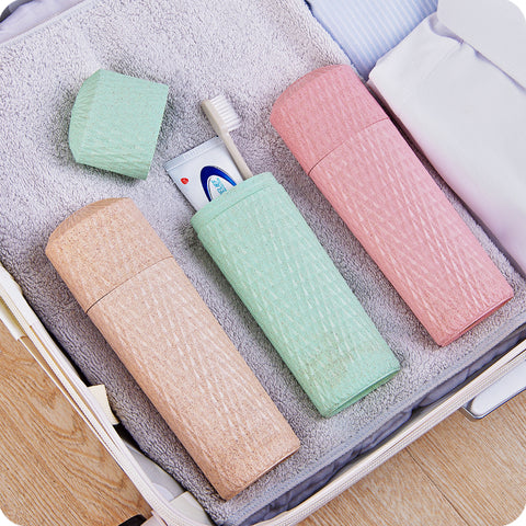 Protable Outdoor Travel Toothbrush Storage Box Holder Tooth Mug T